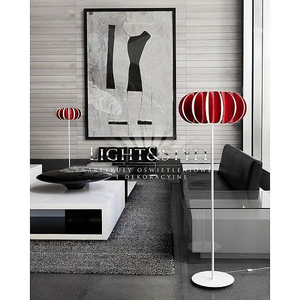 LEDS Blomma Lampa Stojąca 25-4391-BW-82 +Pan-148-25 czerwony, Light&Style