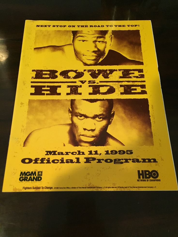 Riddick Bowe Vs Herbie hide Onsite Program
