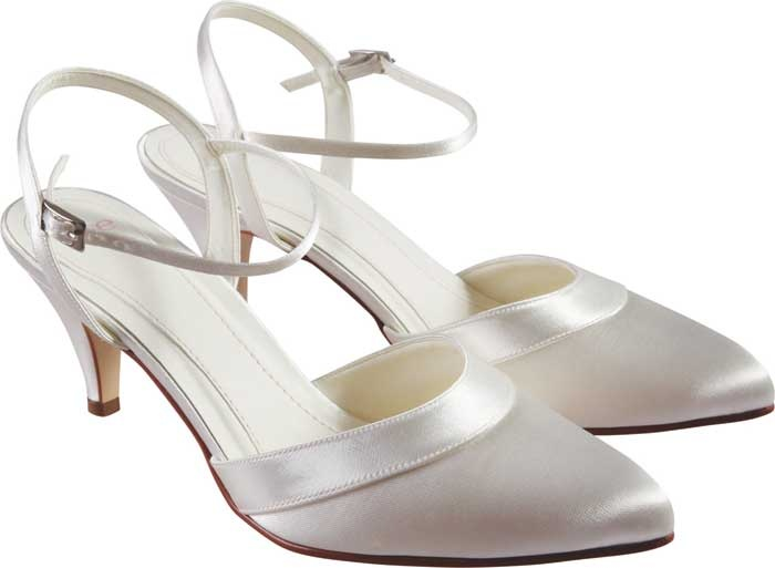 ELSE BY RAINBOW CLUB MALBEC DYEABLE WEDDING SHOES from Elegant Steps. A  generous satin overlay