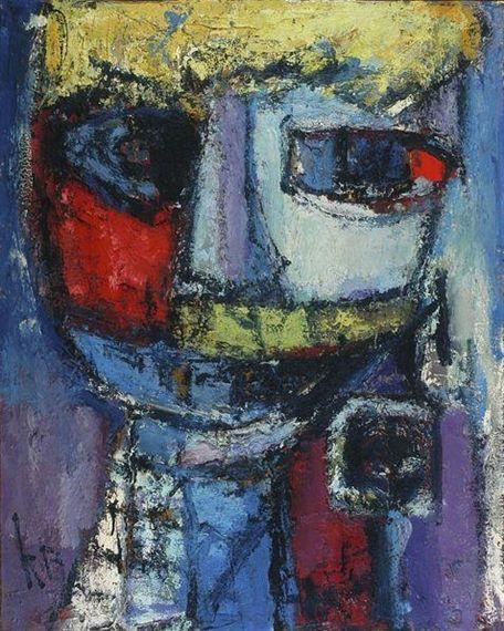 Karel Bleijenberg - Portrait of a woman, 1967, Oil... on MutualArt.com