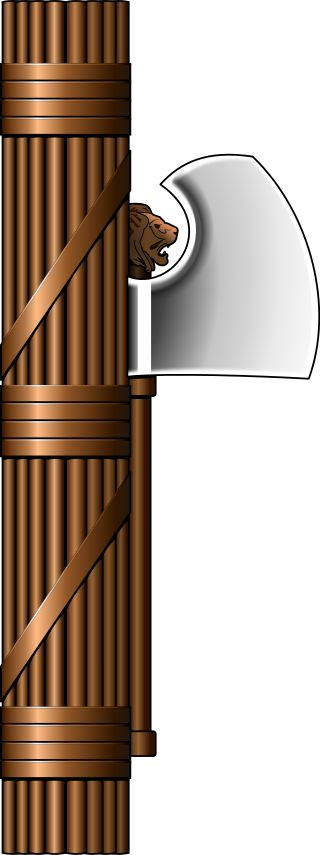 The Roman fasces, which is derived from the name of the term fascism.