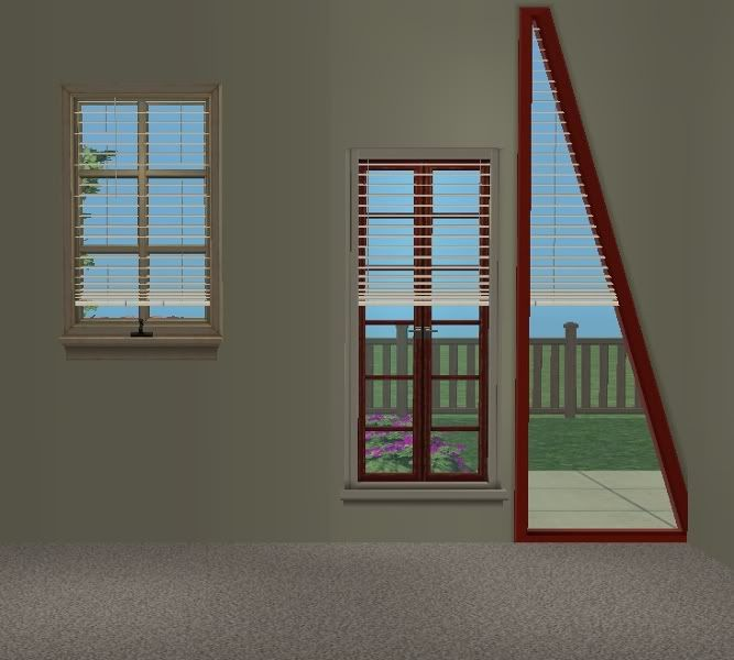 TheNinthWaveSims: The Sims 2 - Fitted Blinds One Mesh Fits in ANY window!