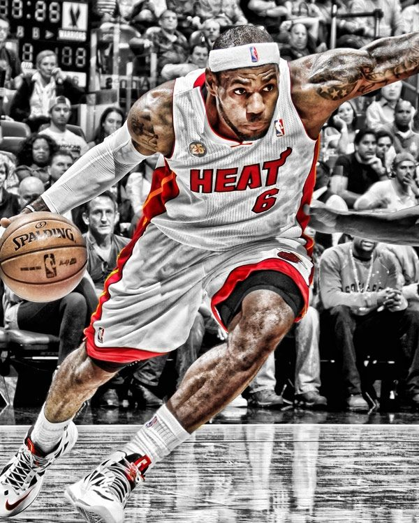 THE ONLY HEAT PLAYER THAT I RESPECT!!! LeBron James