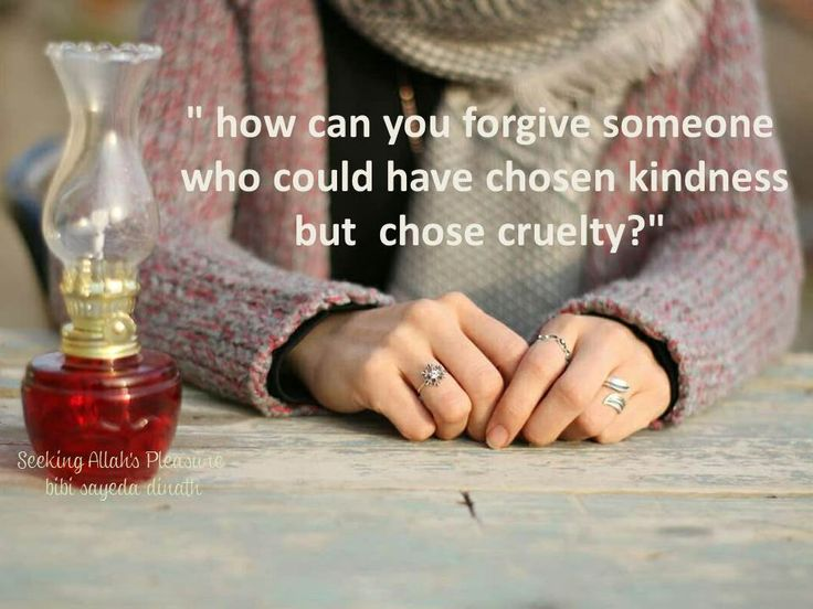 how can you forgive someone..................