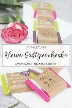 {DIY} Kleine Gastgeschenke für die Hochzeitsgäste – Hochzeit