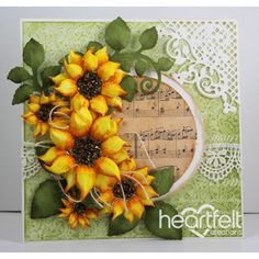 Heartfelt Creations - Sunny Musical Flowers Project