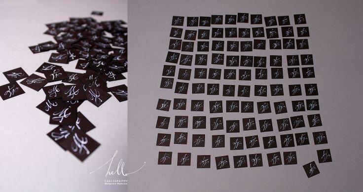 paper details / initials by .hello. calligraphy Małgosia Małecka