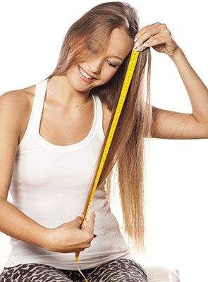 Hair calculator that shows for how long you need to grow your hair to a specific lenght