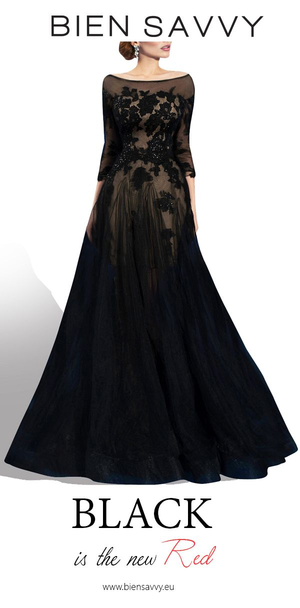 Black is the new Red.  In Love Again, black a-line evening dress by BIEN SAVVY