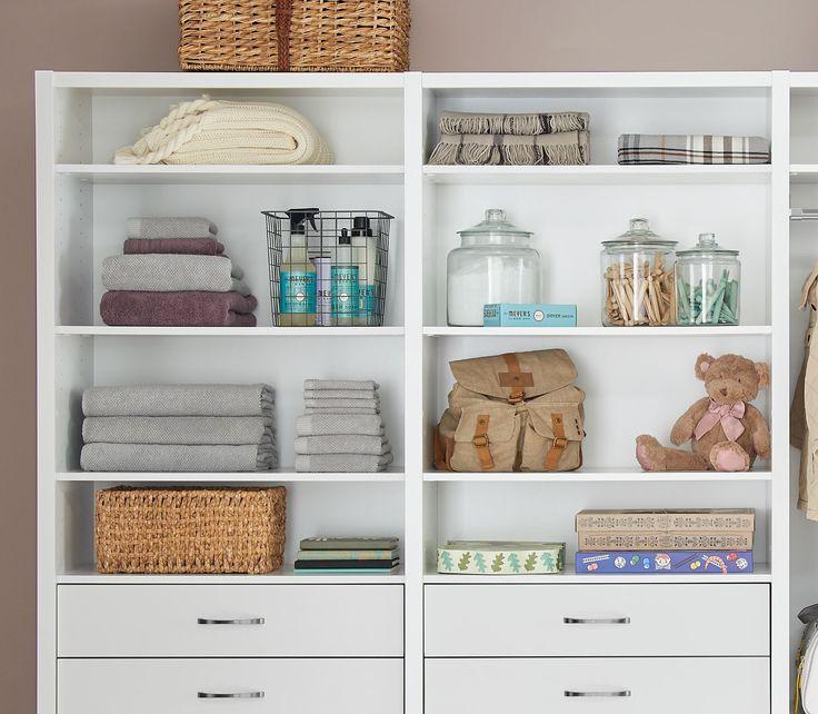 ClosetMaid offers closet organizer ideas, bedroom closet organizer systems,  closet shelves, closet racks, closet solutions, DIY closet systems and