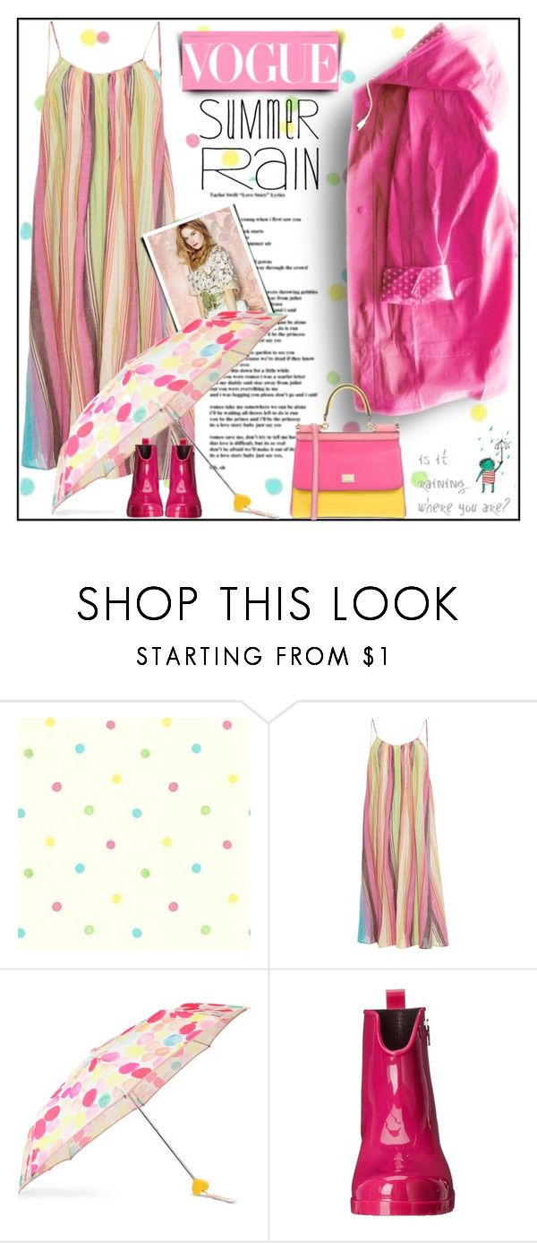 """""""Summer Rain"""" by fassionista ❤ liked on Polyvore featuring Mara Hoffman, Bando, M Missoni, Dolce&Gabbana, rainyday, pinklemonade, summerrain, summer2017 and easydresses"""