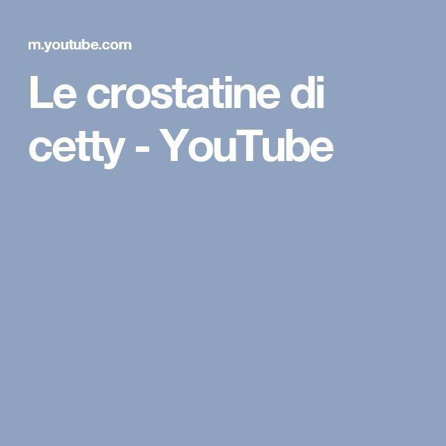 Le crostatine  di cetty - YouTube