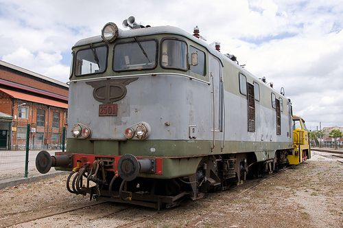 CP (Comboios de Portugal) Series 2500 Electric Locomotive, Entroncamento, Portugal.  I absolutely love old trains, :-).