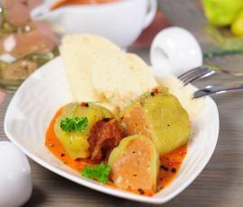 Recept Plněné papriky s rajskou omáčkou od Vorwerk vývoj receptů - Recept z kategorie Hlavní jídla - maso