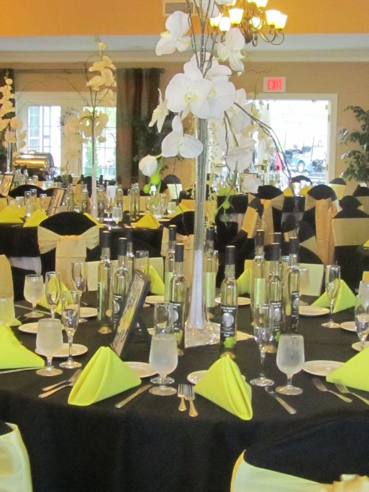 44 Best Images About Yellow And Black Table Settings On