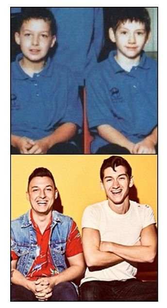 arctic monkeys, matt helders & alex turner