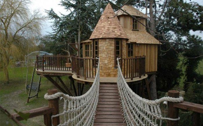 Сказочные жилища:  волшебные дома на деревьях