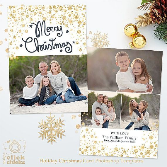 Best Holiday Card Templates For Photographers In 2021 Photoshop Christmas Card Template Holiday Card Template Christmas Card Template
