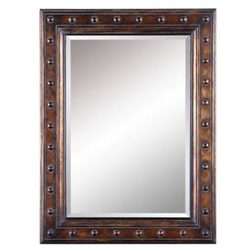 bathroom mirror 30 x 40 allen roth 40 in h x 30 in w bronze rectangular framed 22219