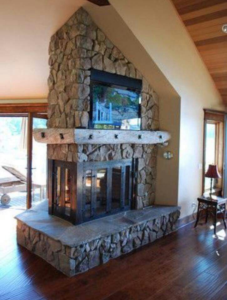 19 best 3 sided fireplace inserts images on pinterest for 3 sided fireplaces