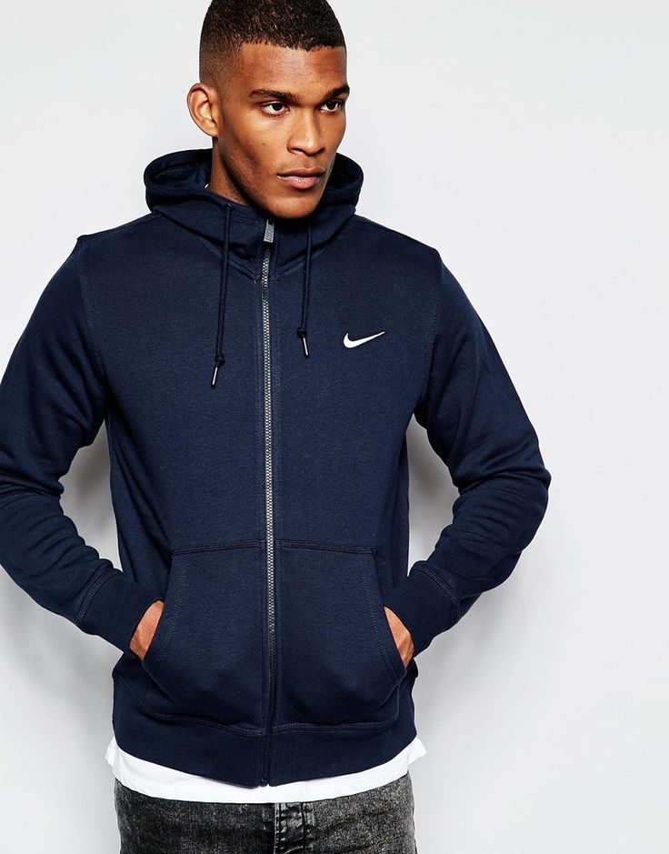 Image 1 of Nike Zip Up Hoodie With Swoosh Logo 611456-473