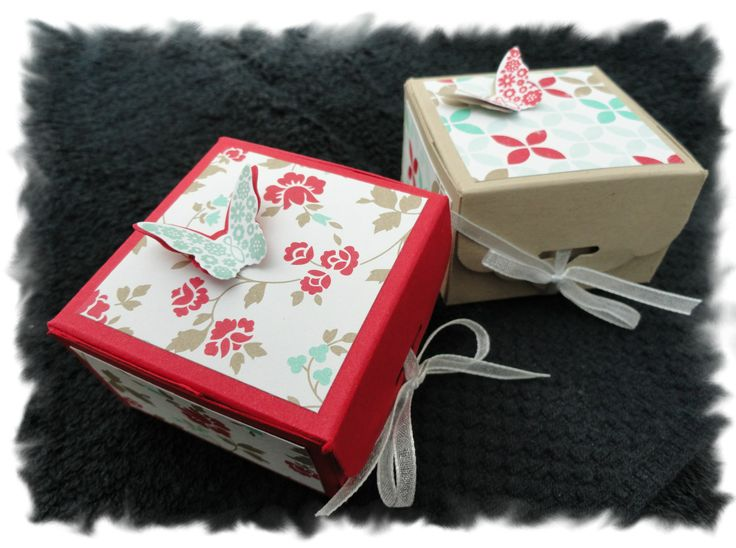 mini boxes with scalloped tag topper punch