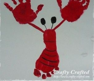Tutorial:  Hand Print and Foot Print Lobster