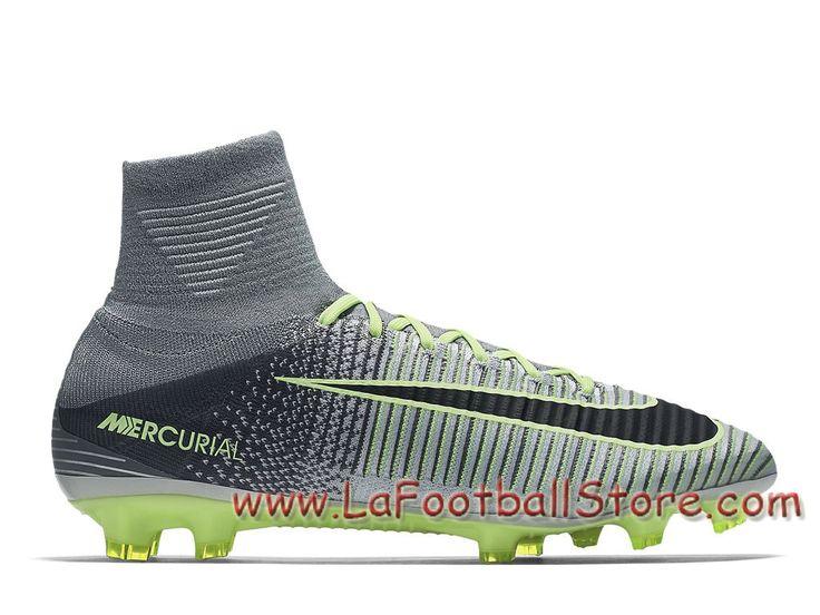 Nike Mercurial Superfly V FG Chaussure Nike Prix de football à crampons pour terrain sec pour Femme/Enfant Green Glow