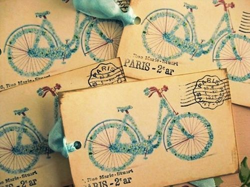 Bicycle tags.: Vintage Postcards, Paris, Gifts Cards, Bike Riding, Bicycle Cards, Vintage Bicycles, French Vintage, Bicycles Cards, Vintage Bike