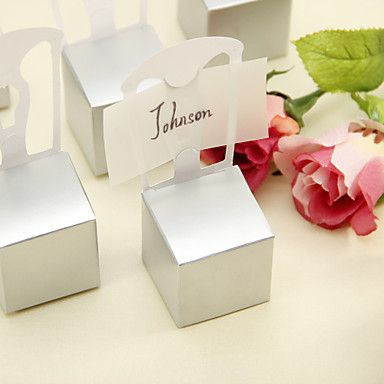 Silver Chair Style Favor Box (Set of 12) – GBP £ 1.86