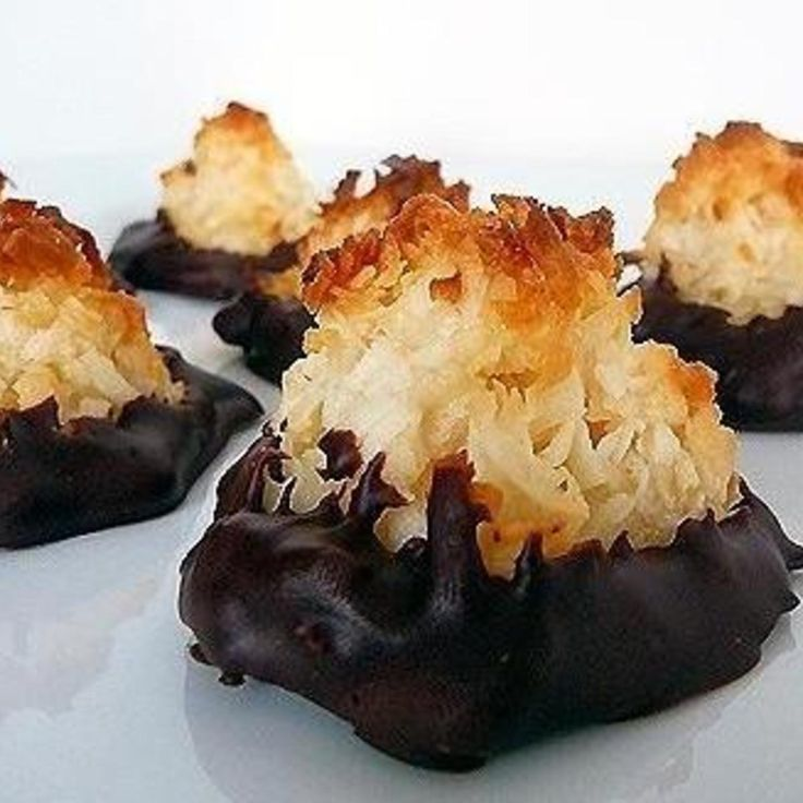 Chocolate-Dipped Coconut Macaroon Cookies
