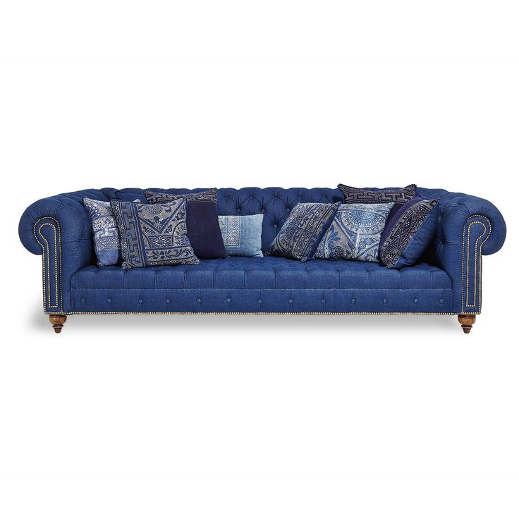 20 Colorful Sofas For Your Living Room  Ralph Lauren Indigo Chesterfield. 16 best images about Furniture on Pinterest   Chesterfield sofa