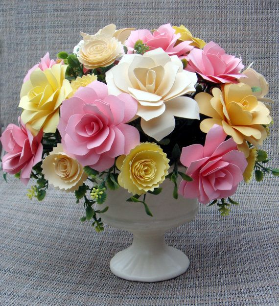 Paper Flower Arrangement Perfect for by SweetPeaPaperFlowers, $25.00