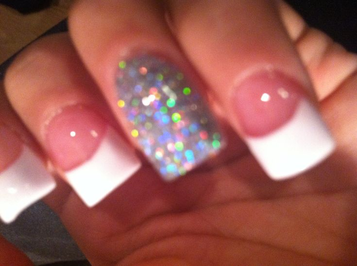 White French Tip Acrylic - YouTube