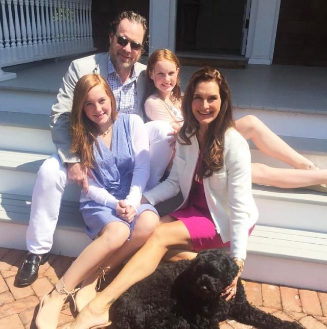All Grown Up! Brooke Shields Poses with Husband and Lookalike Daughters in Sweet Family Photo