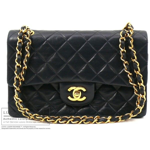 CHANEL - Authentic Chanel Quilted Lamb Skin Flap Bag - LUXURY EXCHANGE... ❤ liked on Polyvore