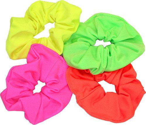 Neon coloured nylon/Lycra scrunchie. Colours: Pink, Yellow, Green & Orange   $4.58