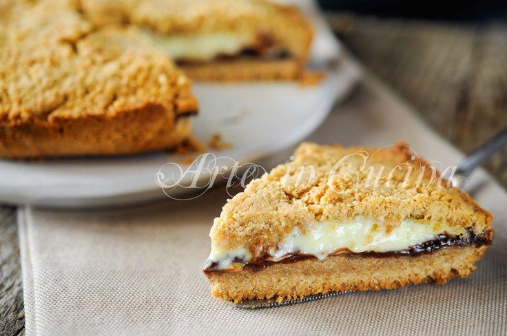 Crostata di biscotti ripiena nutella e mascarpone vickyart arte in cucina