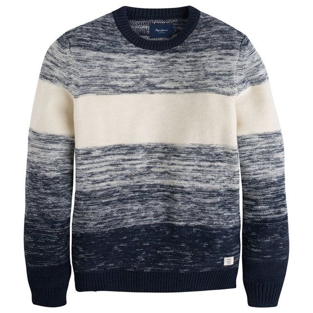 Pull maille chinée multicolore Pepe Jeans