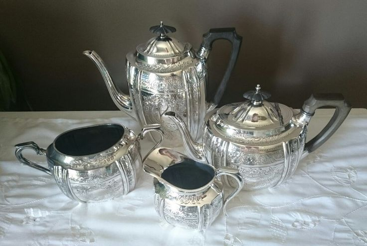 Walker & Hall Sheffield Silver Plated Tea Coffee Pot Creamer Sugar Dish Set  | eBay