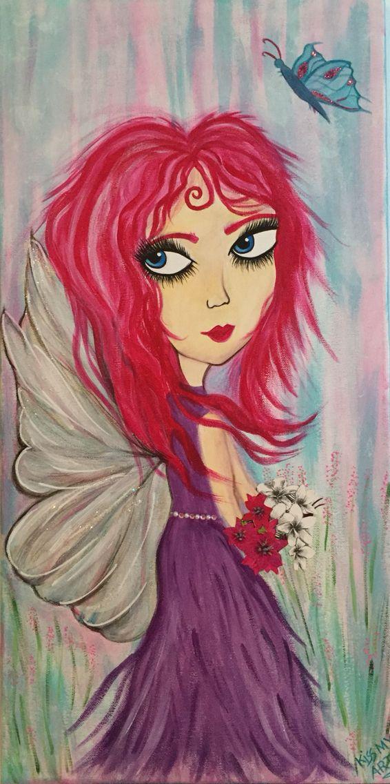 Fairy  Acrylic on canvas