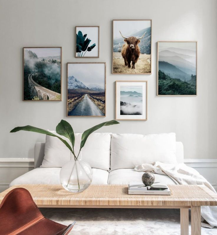 Gallery Wall With Beautiful Nature Motifs Gallery Wall Bedroom Gallery Wall Inspiration Wall Art Living Room