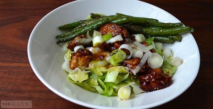 Recept: krokante kip met spitskool en sperziebonen - Dejlig