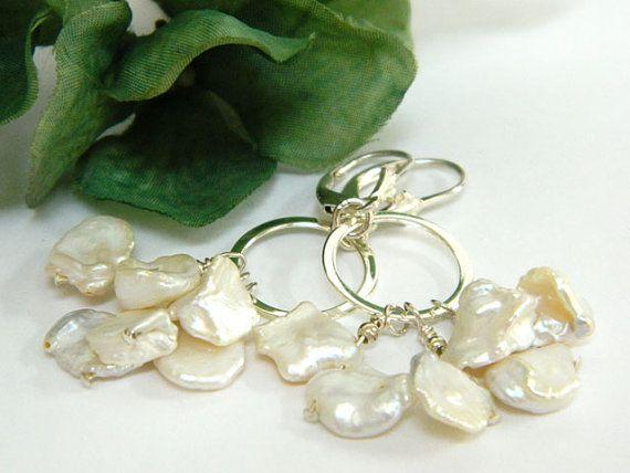Pearl Earrings White Earrings Handmade by BlondePeachJewelry
