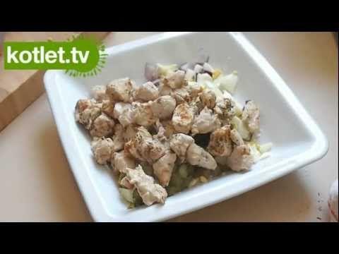 Dukanowa sałatka z kurczakiem - KOTLET.TV - YouTube