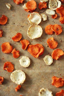 Moje Dietetyczne Fanaberie: Przepis na zdrowe chipsy i recenzja noży Neoflam