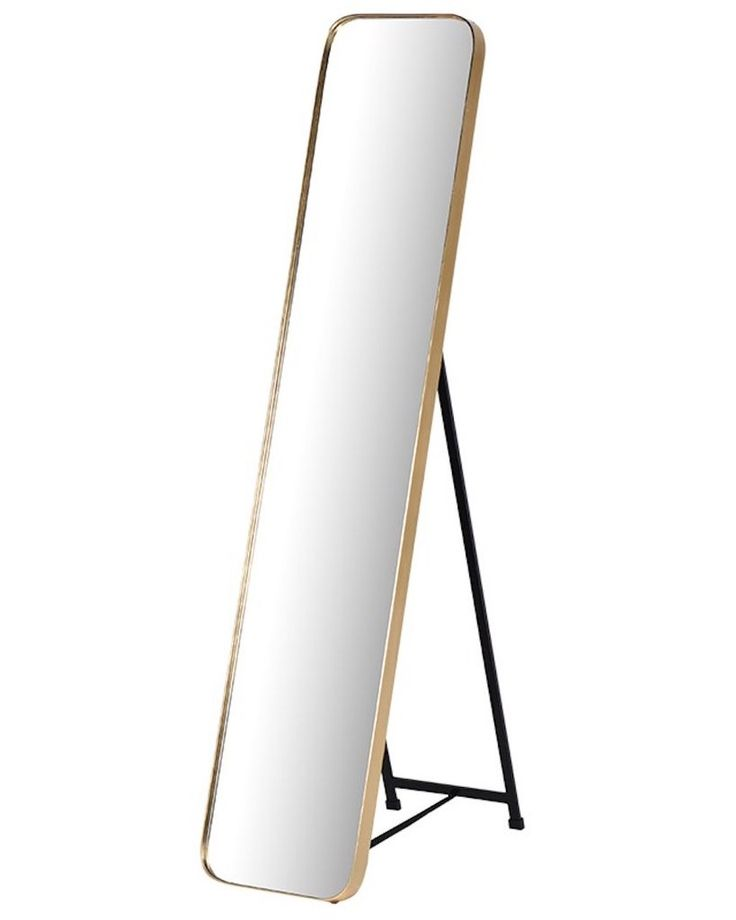 Full Length Cheval Dressing Mirror, Gold Frame H: 145cm, Free Delivery