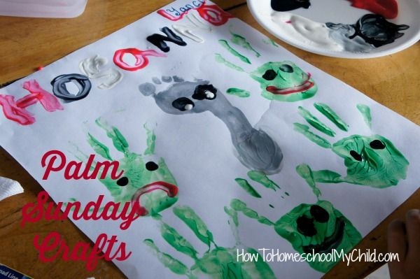 Adding creativity to Palm Sunday crafts for kids - from HowToHomeschoolMyChild.com