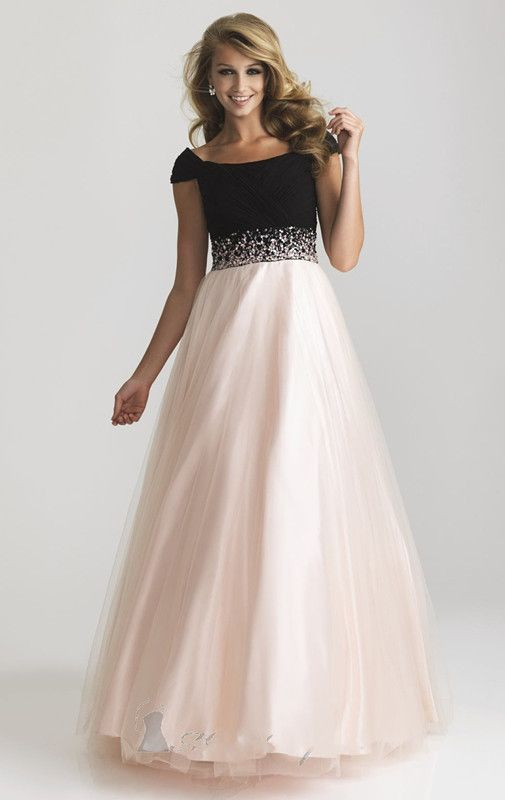 Plus Size 2013 Prom Dresses Cape Sleeve Floor Length Tulle Long Light Blue Pink And Black Evening Gown-in Prom Dresses from Weddings & Events on Aliexpress.com | Alibaba Group