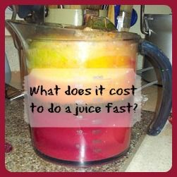 What does it cost to juice fast? Here is a break down of cost to juice per meal. It's not near as expensive as you might think! #juicing #fast #cost